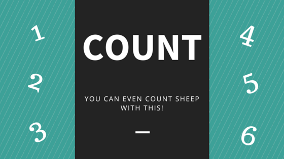 COUNT – You can even count sheep with this!