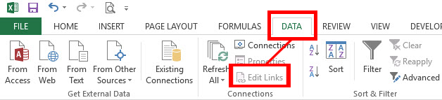 """Use the """"Edit Links"""" to see if you have any cells formulas pointing to an external file. From this menu, you can break the link to those files (it will paste the current result as a value instead of a formula, or you can open the source file)."""