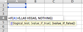 Let's say I am using an IF STATEMENT and I want the function to return the name of a city whenever the criteria is met. If I forget to enter the text inside of quotes, the formula will return an #NAME? Error.