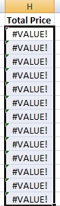 The other way a #VALUE! error can occur is when your excel file is linked to an external source (ie. another excel file). Most of the time, if you don't have the source file open and you attempt to change something in your active sheet, all your links will return a #VALUE! error because it can't locate the source data.