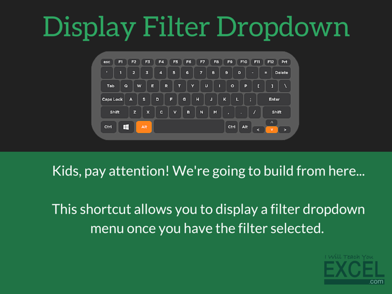Display Filter Dropdown