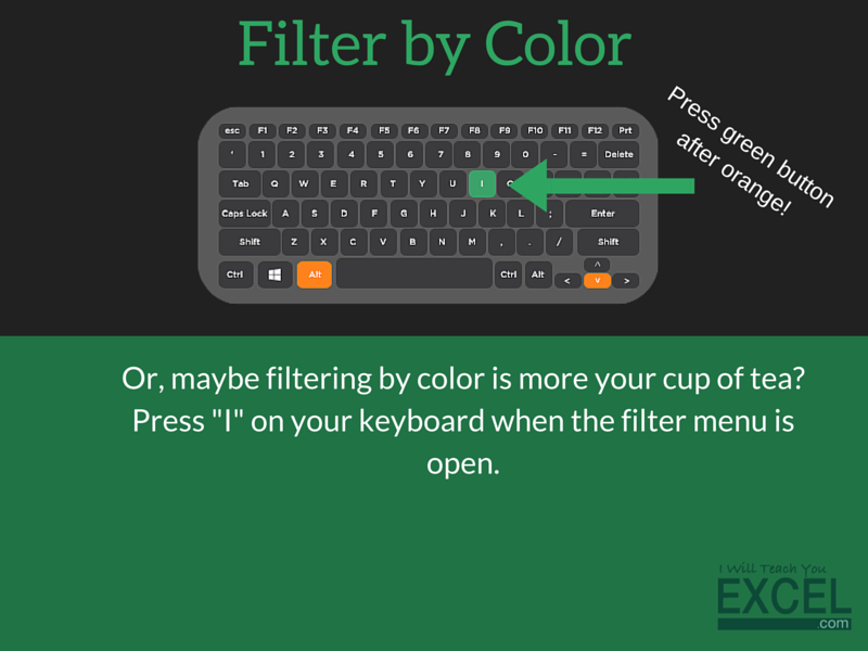 Excel Filter by Color