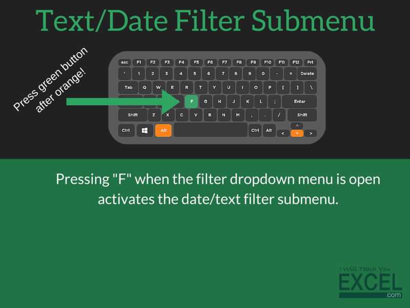Excel Text/Date Filter Submenu